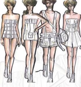 Na coleção, short que vira bolsa ou o macacão que é uma blusa.